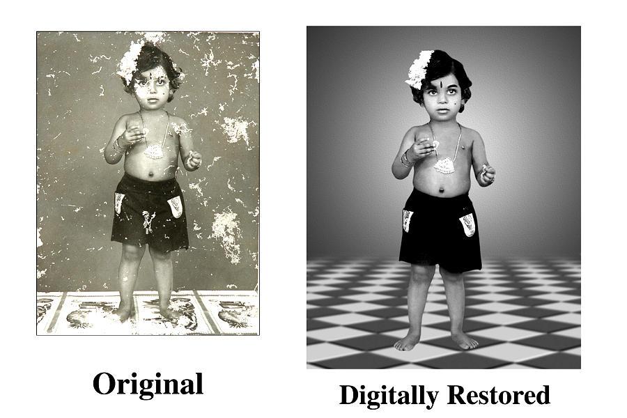 old damaged photo restoration iab coimbatore